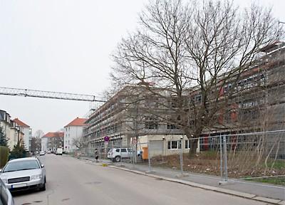 Der Rohbau der 144. Grundschule in Dresden-Pieschen ist fertiggestellt
