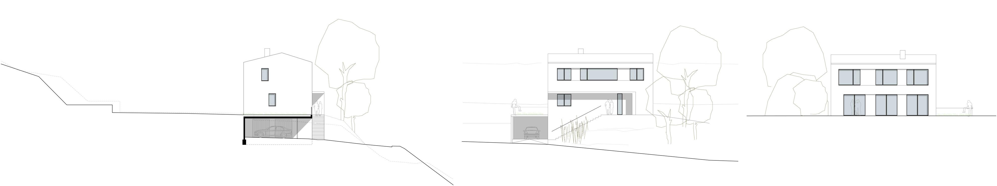 Neubau Einfamilienhaus Coswig Ansichten