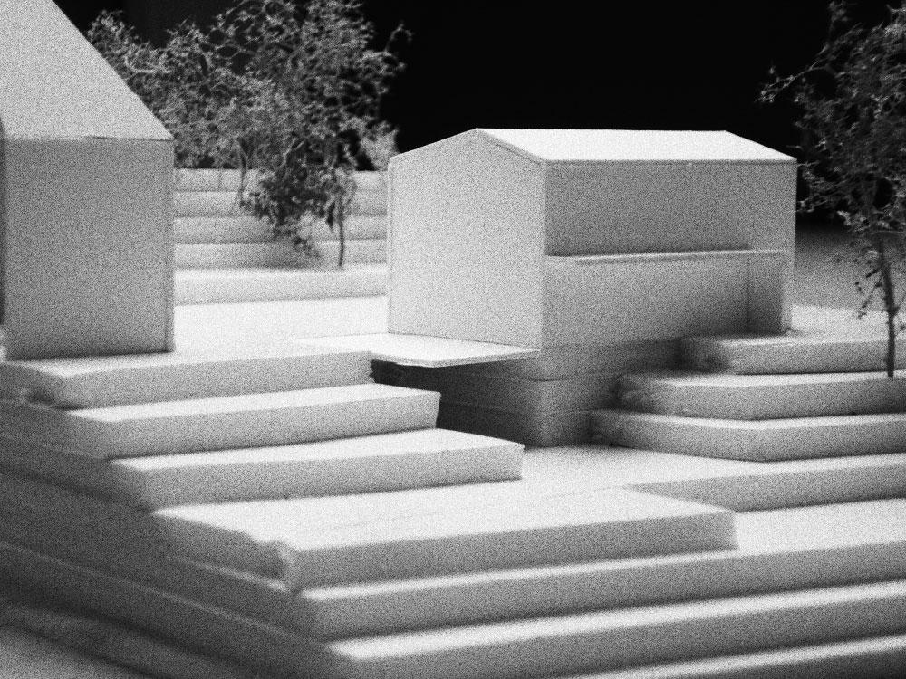 Neubau Einfamilienhaus Coswig Arbeitsmodell