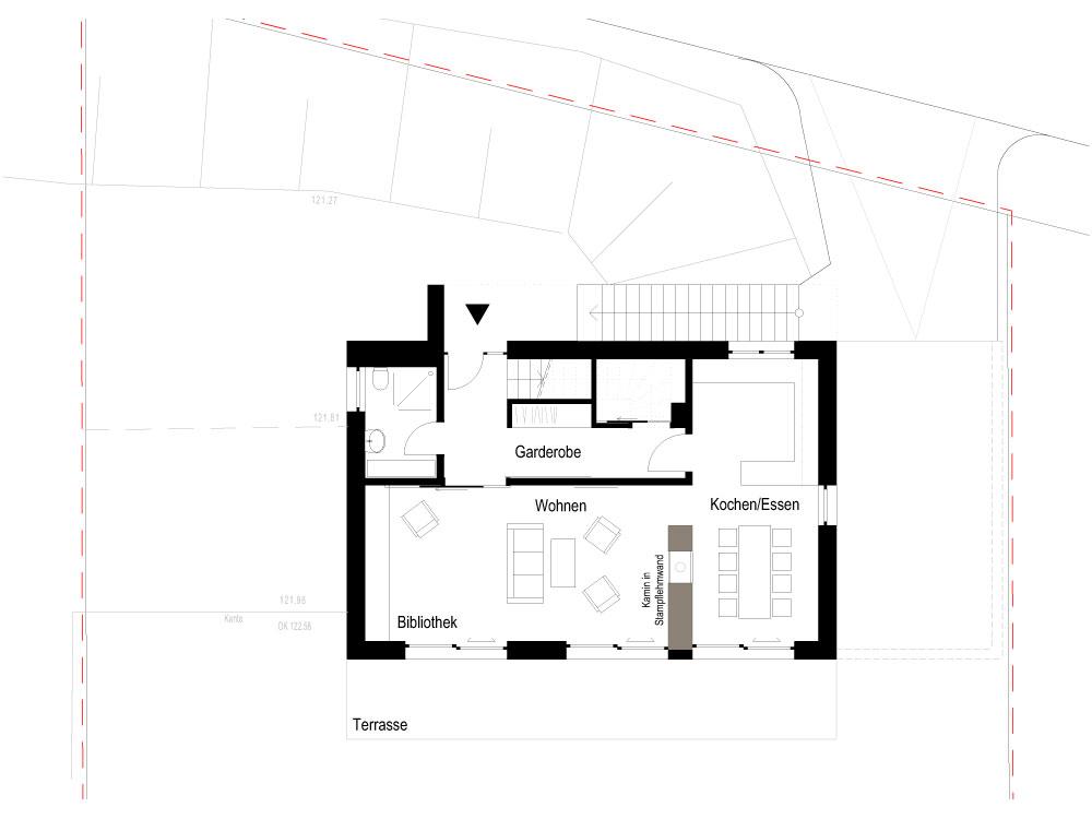 Neubau Einfamilienhaus Coswig - Grundriss Erdgeschoss