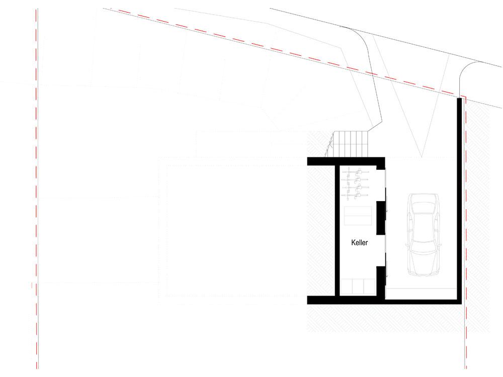 Neubau Einfamilienhaus Coswig - Grundriss Kellergeschoss