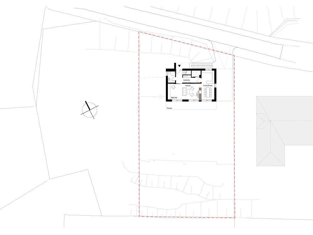 Neubau Einfamilienhaus Coswig Lageplan